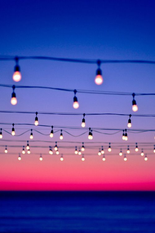Lights by the sea