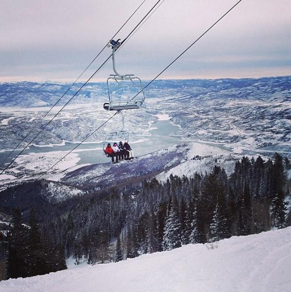 Skiing at Deer Valley, Utah.