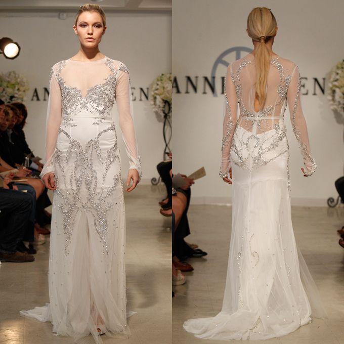 Brides.com: Open-Back Wedding Dresses from Spring 2013. Open-Back Wedding Dress: Anne Bowen. Armor, price upon request, Anne Bowen  Browse more Anne Bowen wedding dresses