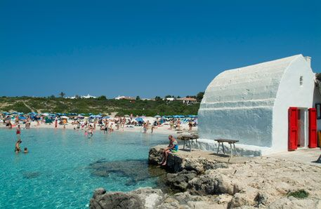 Binibeca Vell on the Island of Menorca (Balears, Espanya)