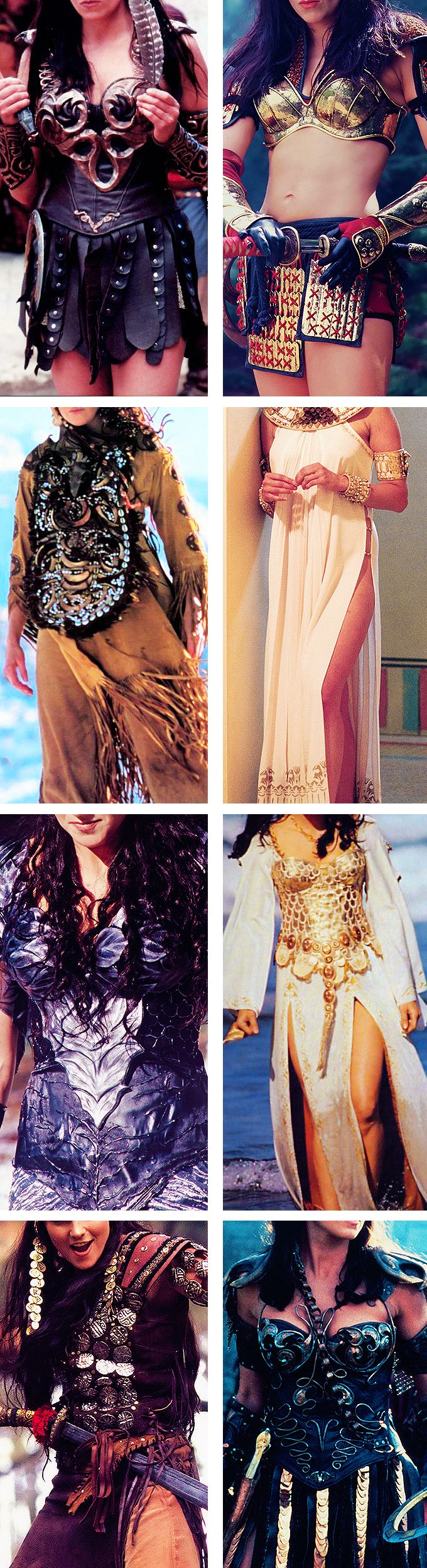 Xena + Costumes. I love the costumes on this show