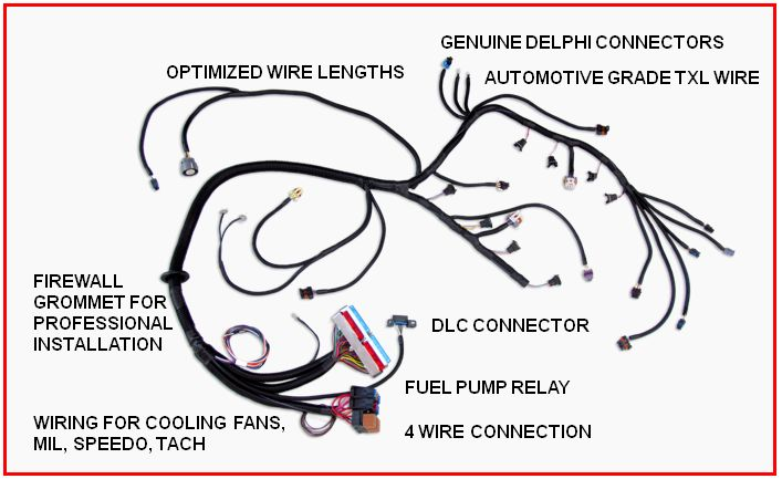 Ls Wiring Harness And Pcm - Wiring Diagram Completed