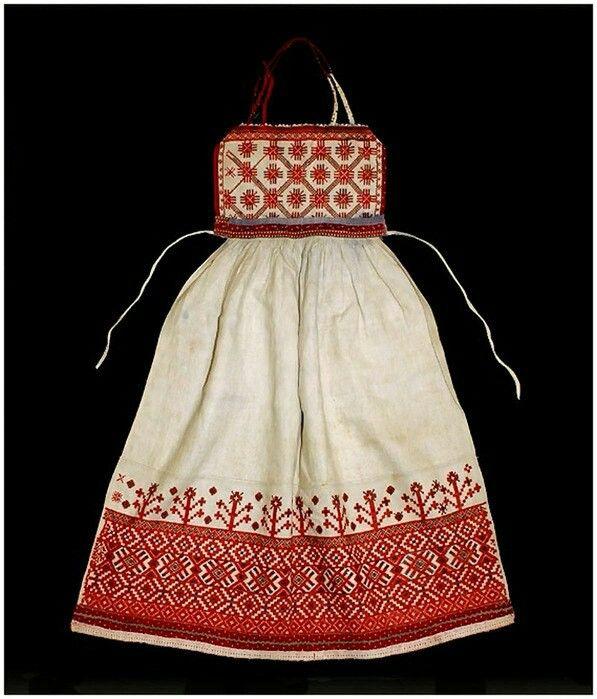 Russian apron Russian tradition
