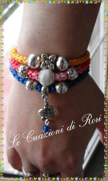 """Bracciale """"Colors"""" di Rori modello 3 in 1. https://m.facebook.com/pages/Le-Creazioni-di-Rori/342186462499019"""