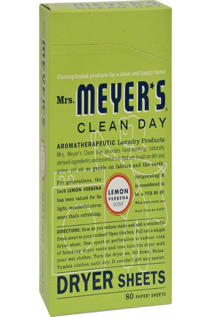 13 50 Mrs Meyers Dryer Sheets Lemon Verbena 80 Sheets