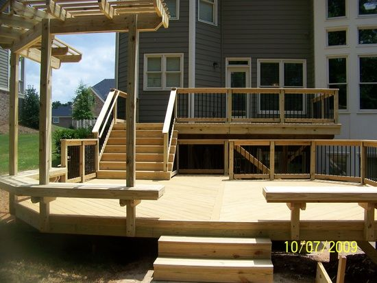Two level deck idea.  6082 Kingston Dr, Douglasville, GA 30135