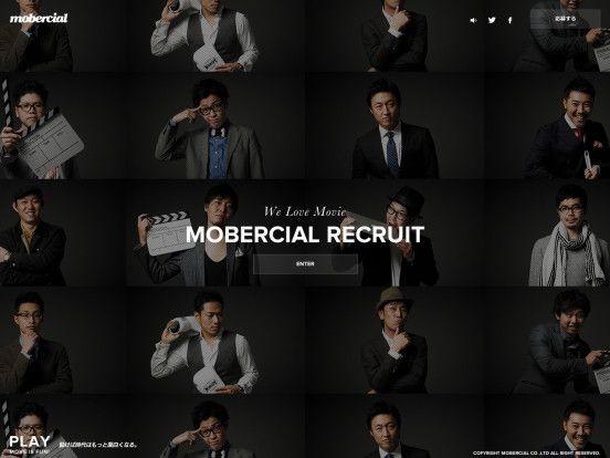 PLAY - MOVE IS FUN  動画制作・映像制作/撮影・CM制作会社 MOBERCIAL(モバーシャル)RECRUIT SITE « WebDesign Bookmark S5-Style