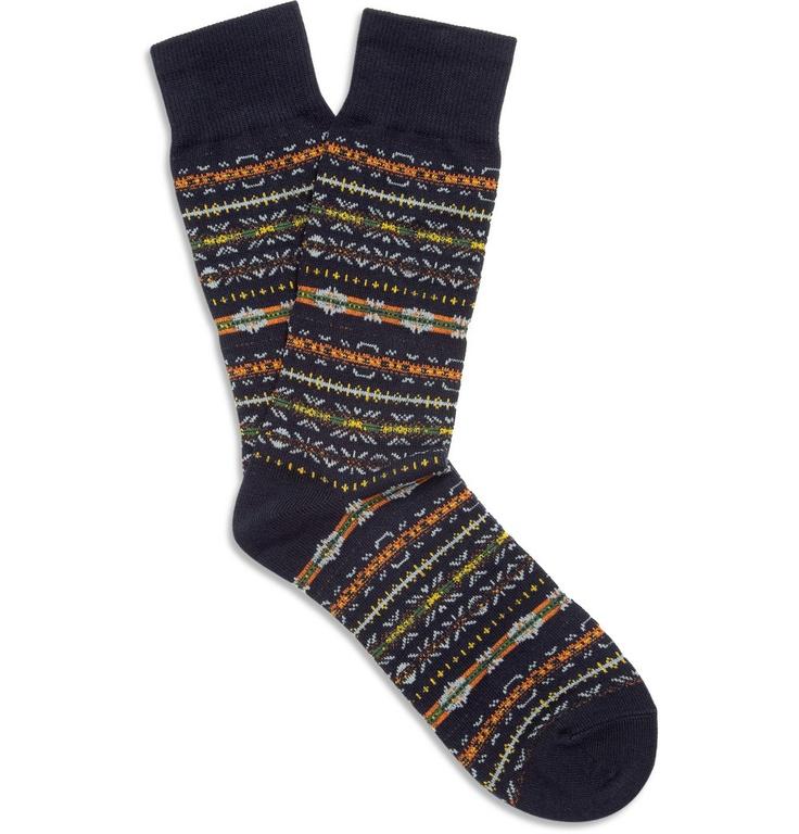 Beams PlusFair Isle Socks|MR PORTER
