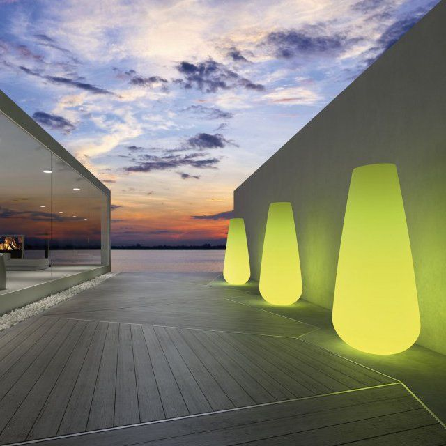 decking: Gardens Ideas, Lights Gardens, Lights Vase, Gardens Can, Trav'Lin Lights, Decks Lights, Colors, Buba Lights, Design