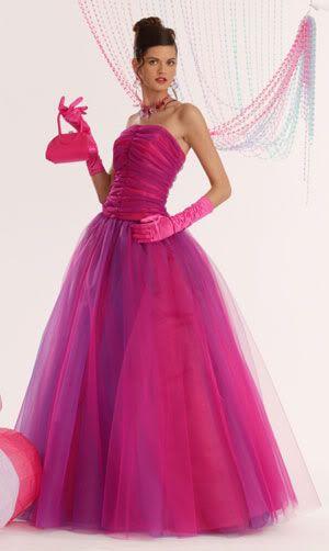 pink bride dresses