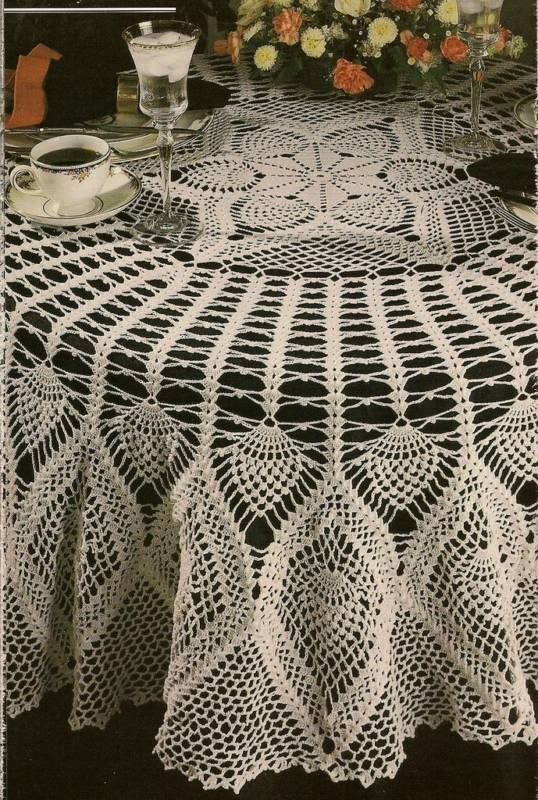 crocheting tablecloths | Crochet Easy Free Pattern Tablecloth Learn How Pic #14