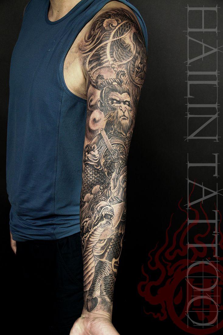 Hailin Fu tattoo ART Monkey King www.facebook.com/...  @Hailin Tattoo