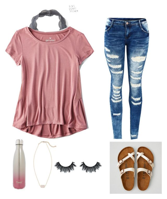 """""""Untitled #79"""" by denisse-arellanoaguirre on Polyvore featuring Aéropostale, American Eagle Outfitters, S'well and Kendra Scott"""