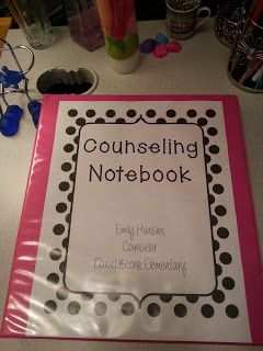 This is a great way to organize all communication regardless of what level you work with. Counseling Notebook