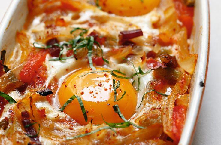 Recette d'œufs au plat à la basquaise par Alain Ducasse