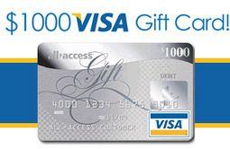 Chance to get $1000 Visa reward card