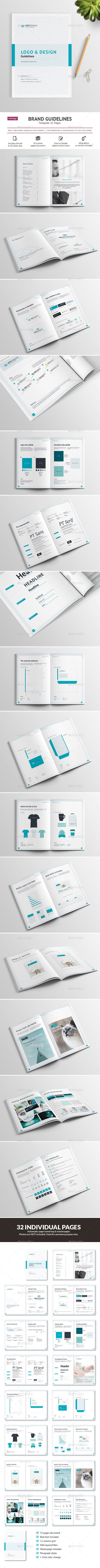 Brand Guidelines - 32 pages by corrella Live preview » Brand Guidelines �2032 pages A 44 pages brand & logo guidelines template, with real wording.The format is A4 (210×29