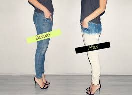 diy jeans - Just use bleach