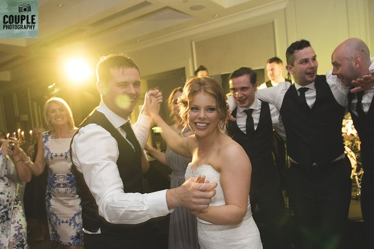 The bride & groom on the dancefloor. Weddings at Druids Glen Hotel by Couple Photography.