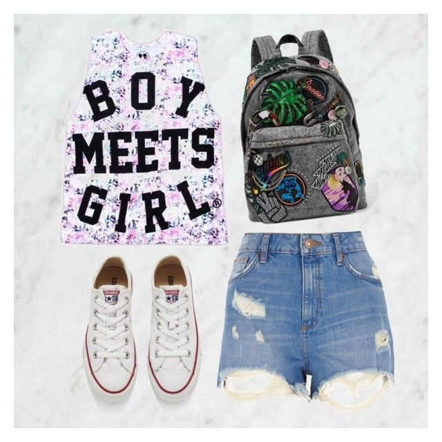 """""""Boy Meets Girl: Dress It Up, Dress It Down (2)"""" by boymeetsgirlusa ❤ liked on Polyvore featuring River Island, Converse and Marc Jacobs"""