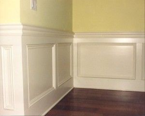 this chair rail molding is beautiful i think it would look great solid white with