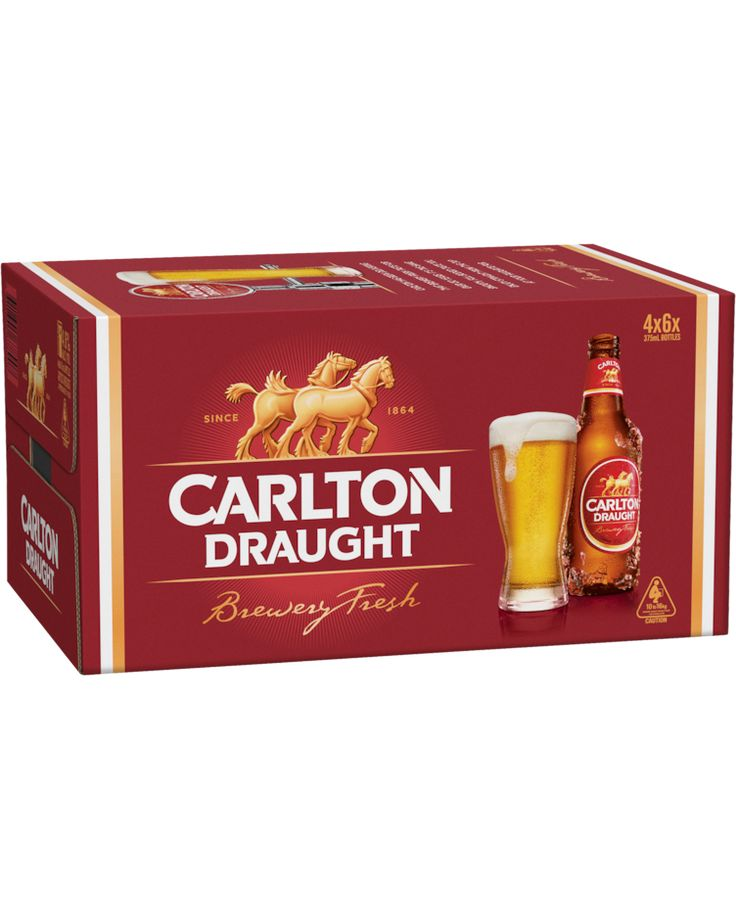 Carlton Draught Stubbies 24 Case