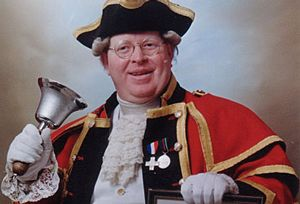 The multi talented London Town Crier who double up as  an Uncle Fester Lookalike and also a balloon modeller for children's parties. #spotoneventsdir