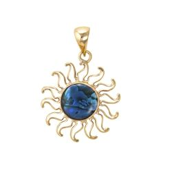 Charles Albert Alchemia Blue Abalone Sun Pendant