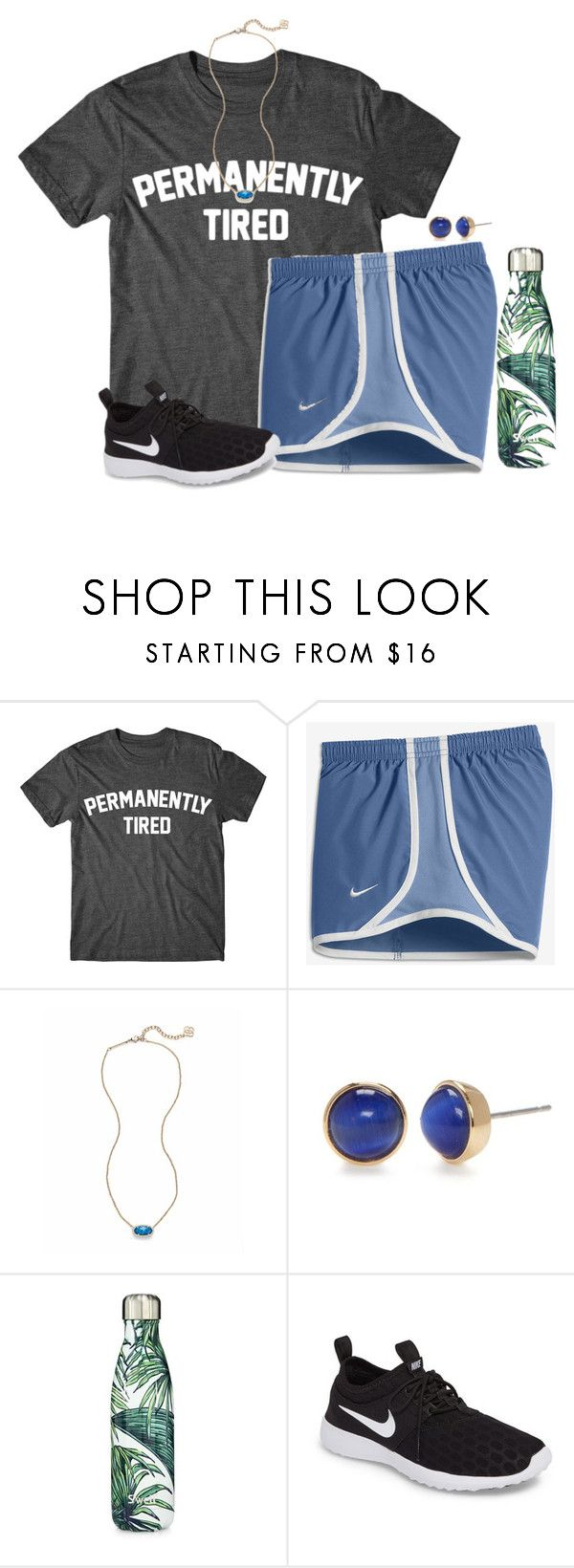 """""""Day 1: tennis camp complete"""" by auburnlady ❤ liked on Polyvore featuring NIKE, Kendra Scott, Kate Spade and S'well"""