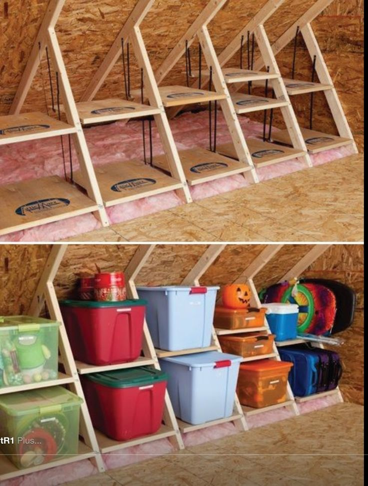 Organizing boxes. Clever storage idea!