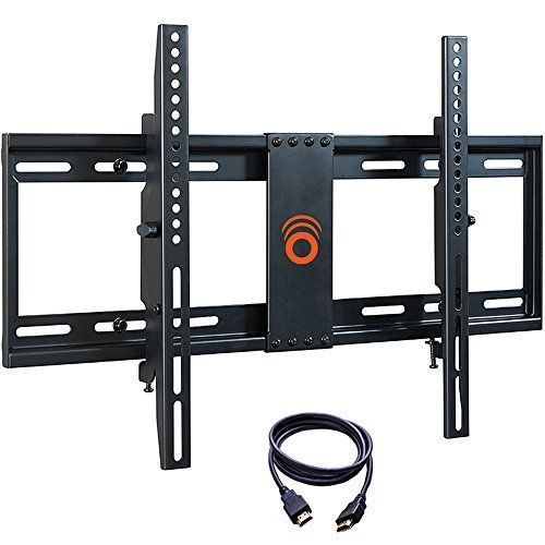 ECHOGEAR Tilting Low Profile TV Wall Mount Bracket for 32-70 inch TVs - Up to 15 Degrees of Tilt for LED LCD OLED and Plasma Flat Screen TVs with VESA patterns up to 600 x 400 - EGLT1-BK