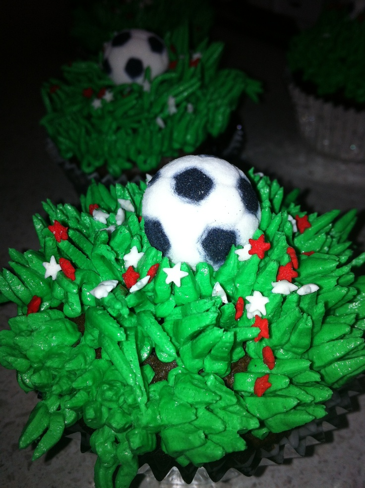 Hubby's soccer cuppies