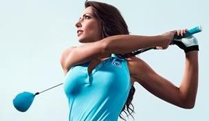 """Golf Channel personality and """"Morning Drive"""" co-host Holly Sonders appears on the cover of this month's Golf Digest."""