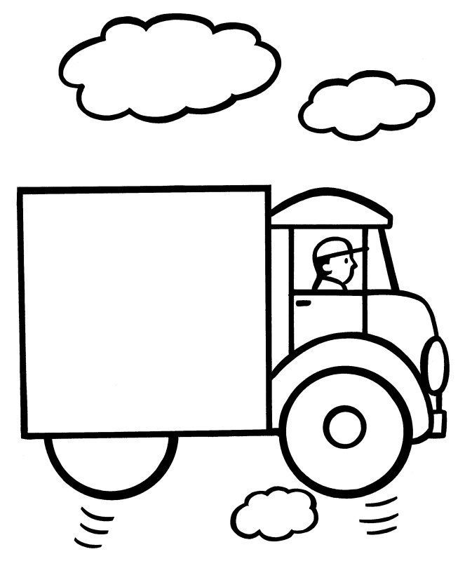 Easy Coloring Pages Truck 001 Easy Coloring Pages Unicorn Coloring Pages Owl Coloring Pages