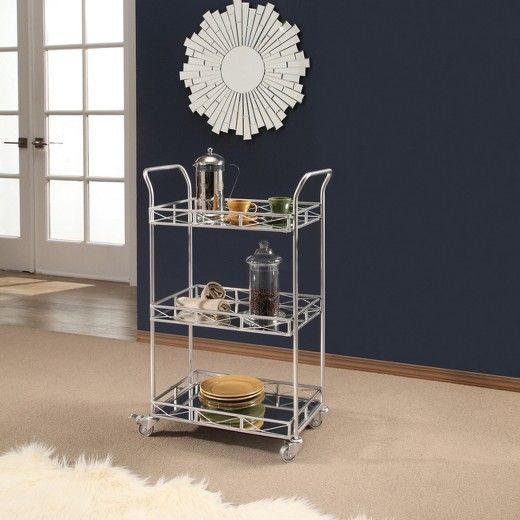 Felipe 3 Tier Bar Cart Silver Abbyson Target Abbyson Living Bar Cart Home Decor