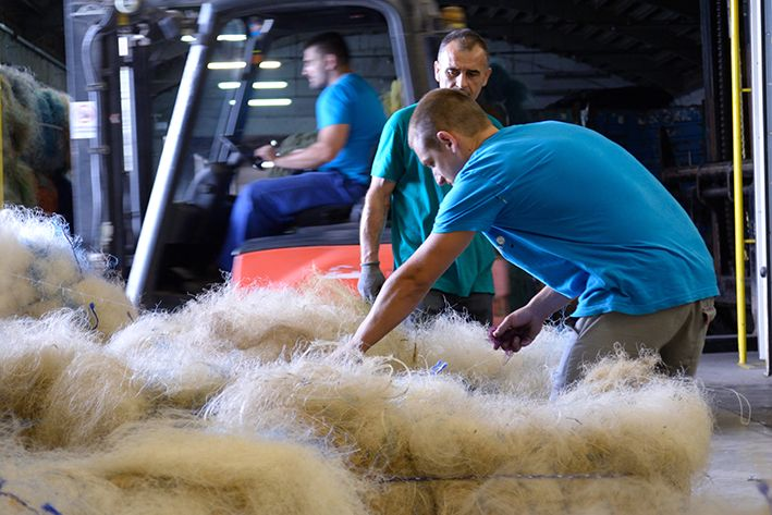ECONYL® - Net-works fishing nets arrived in Ajdovscina for regeneration into new yarn for apparel and carpet