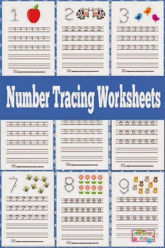 Helping Kids Grow Up: Free Number Tracing Printable Worksheets