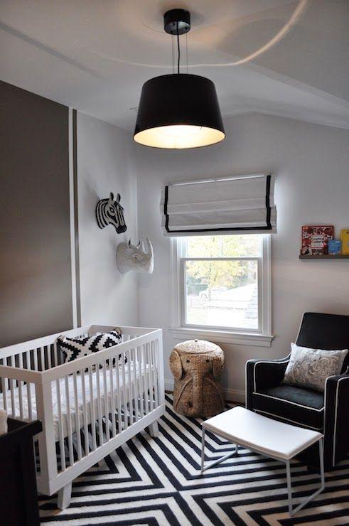 Black and White Nursery - Contemporary - nursery - JWS Interiors
