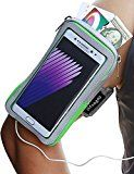 Galaxy Note 7 Armband, iMangoo Universal Cell Phone Pouch Samsung Galaxy Note 7 Running Armband Outdoor Sports Armband Gym Wrist Bag Touchscreen Sleeve for Galaxy Note 7 Note 5 Note 4 Note 3 Green
