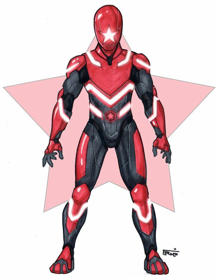 Zeo Ranger 5: Red by DavidFernandezArt on deviantART