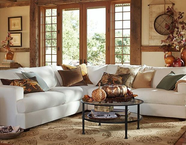 Fall Winter 2013 Outfits Inspired by Pottery Barn147 best Pottery Barn images on Pinterest   Living room ideas  . Fall Living Room Decor. Home Design Ideas