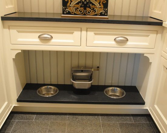 Very cool! A pet feeding area (laundry room) with a continuous water line!  Laundry Room Design, Pictures, Remodel, Decor and Ideas - page 6