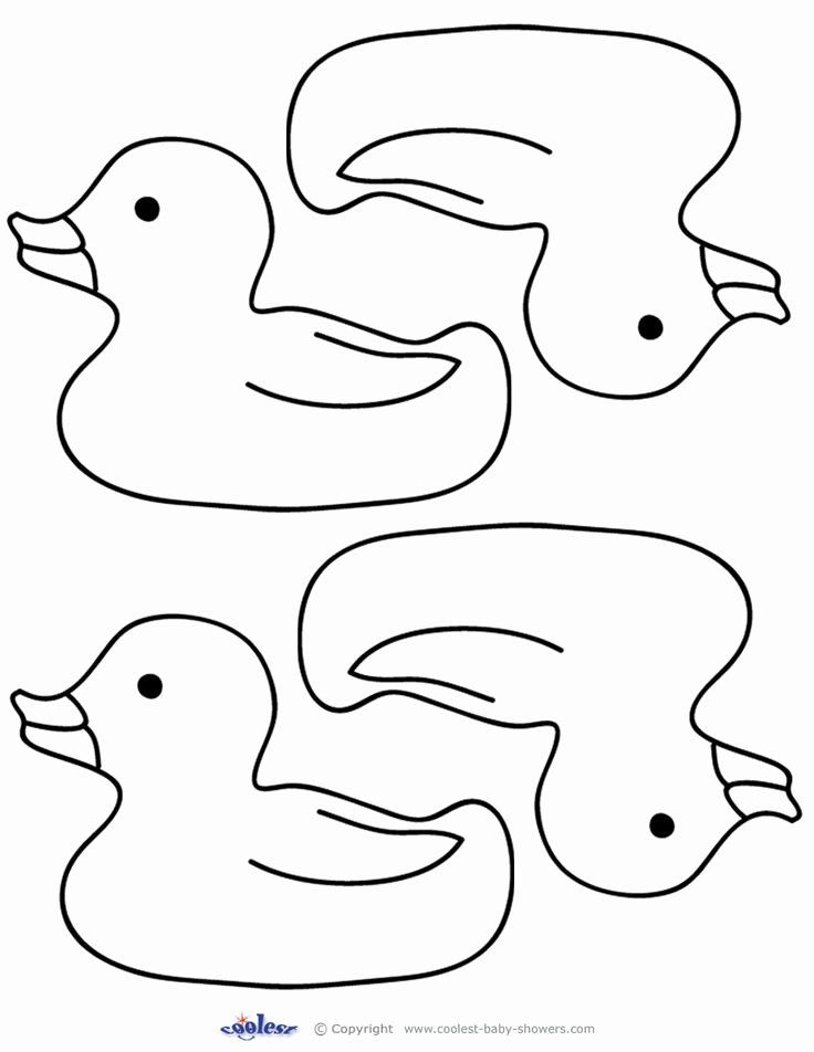 Rubber Duck Coloring Page Inspirational Blank Printable Rubber Ducky 2 Thank You Cards Coolest In 2020 Baby Shower Duck Rubber Duck Baby Shower Baby Boy Shower