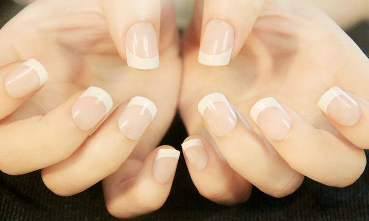 24 Pcs French Tip Design Plastic Acrylic Nails