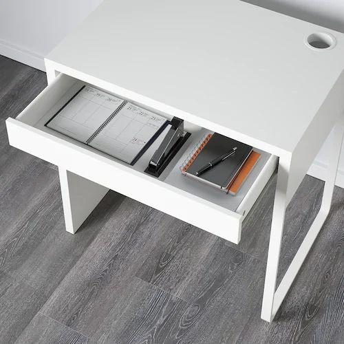 MICKE White, Desk, 73x50 Cm - IKEA In 2020