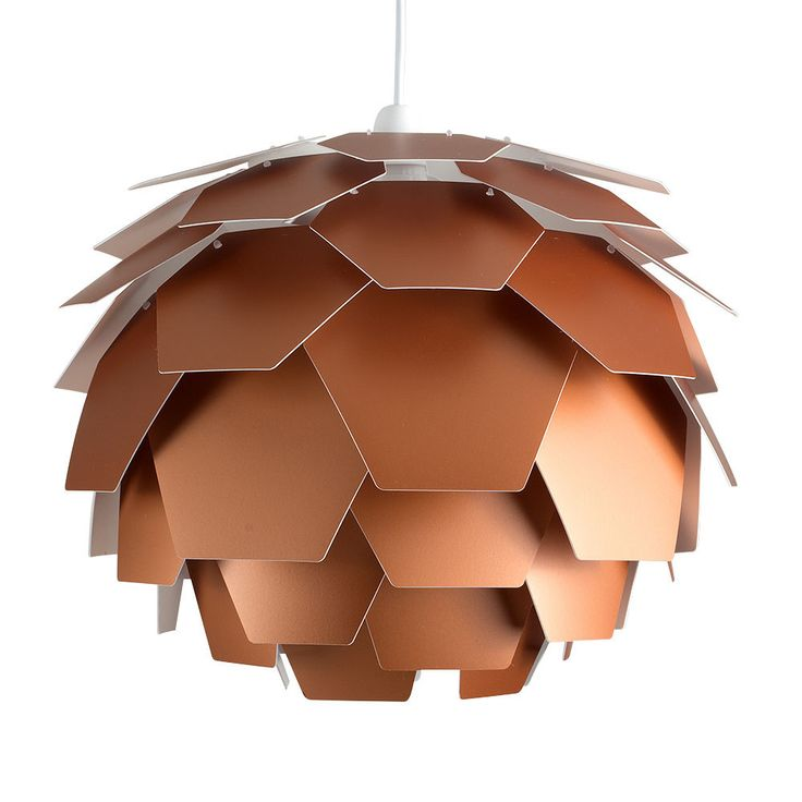 Large Modern Matt Copper Artichoke Ceiling Pendant Light Shade Lampshade  Home