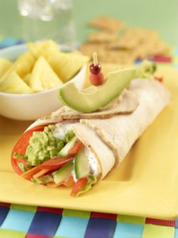 Tasty Turkey Wrap | Lunchbox Faves | Healthy Eating | PFK - Produce For Kids