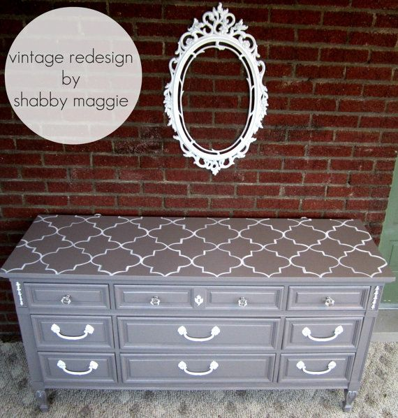 Beautiful re-purposed dresser and mirror