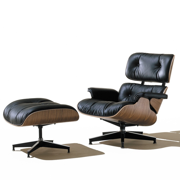 The Eames Chair And Ottoman. SO Comfy!