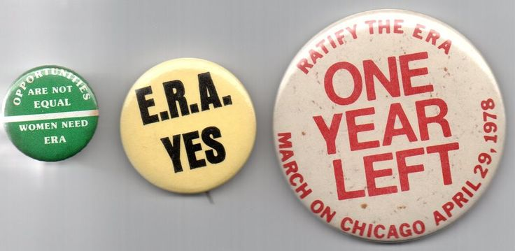 2 ERA EQUAL RIGHTS AMENDMENT  Feminist  Pinbacks